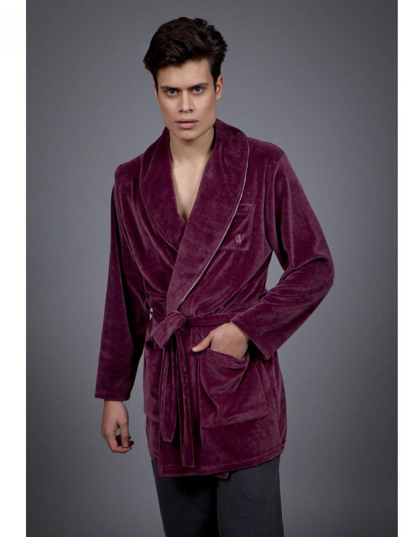 dc68ef0633e VAMP MEN ROMPA VELVET ΚΑΦΕ - Vamp - Ρόμπες :: Pavlina Underwear Shop ...