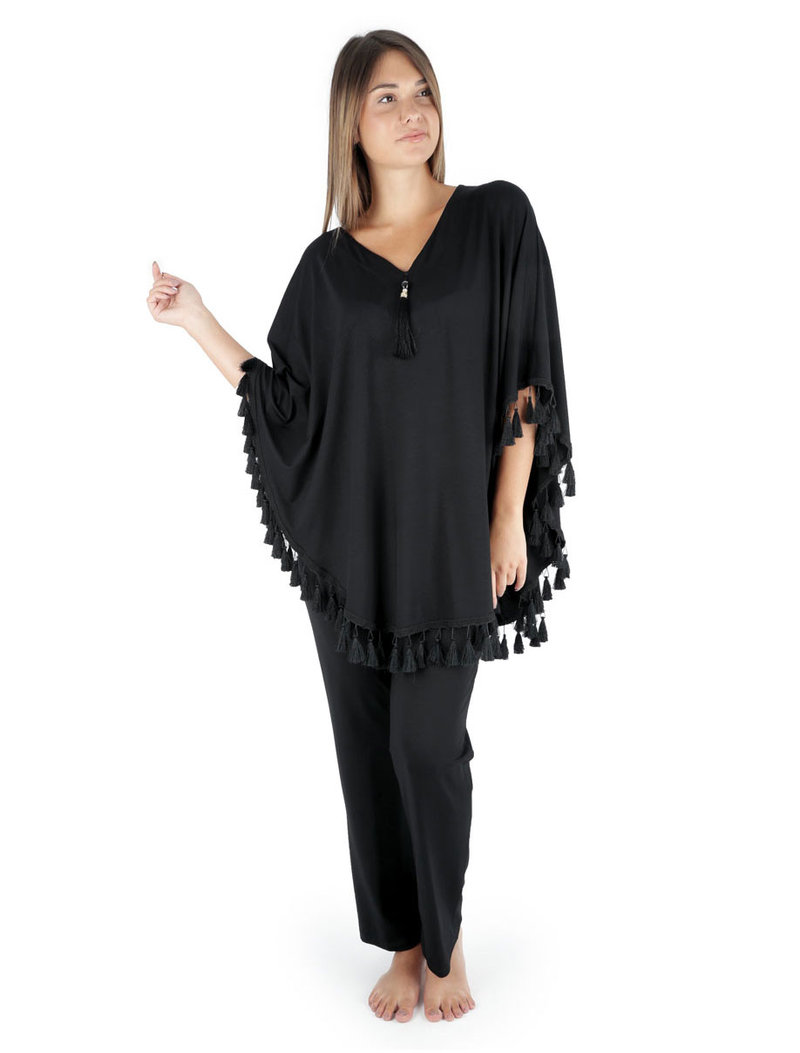 4f9e264da9e Homewear Set V-Neck 92% Viscose - Claire Katrania - Μεγάλα Μεγέθη ...
