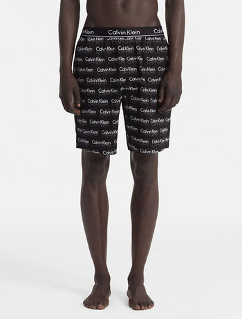 Sleepwear Shorts MAΥΡΟ/ΛΕΥΚΟ