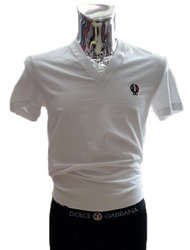 DEEP V-NECK T-SHIRT SPORT CREST ΛΕΥΚΟ