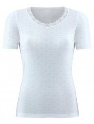 Women Thermal T-shirt Εκρού