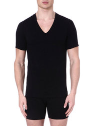 Pack 2 T-Shirts V-Neck CK One Μαύρο
