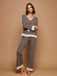 Homewear Set με V-Neck 98% Viscose